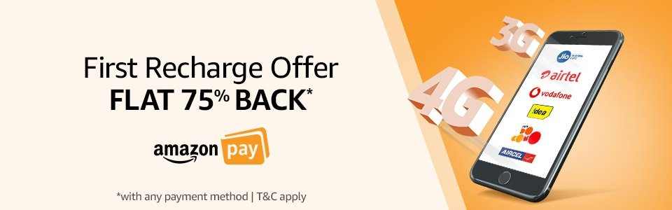 First Recharge Offer 75% Off