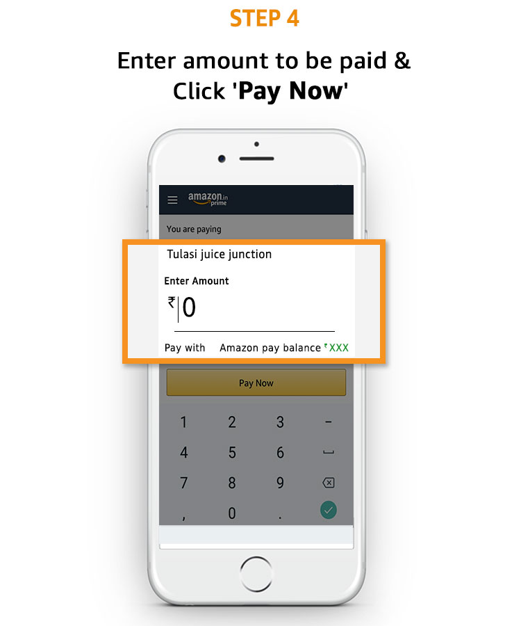 Enter amount to be paid & Click 'Pay Now'