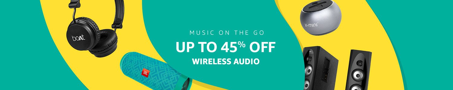 Wireless audio up to 45% off
