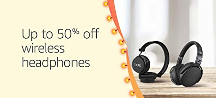 Wireless headphones up to 50% off