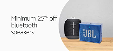 Bluetooth speakers minimum 25% off