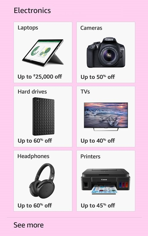 Top offers on Electronics
