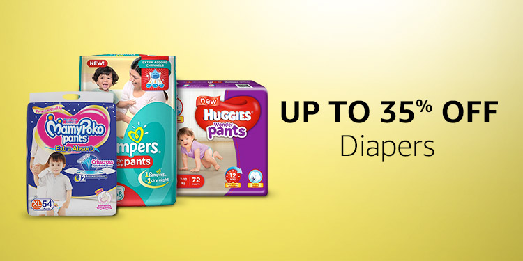Up to 35% off Diapers