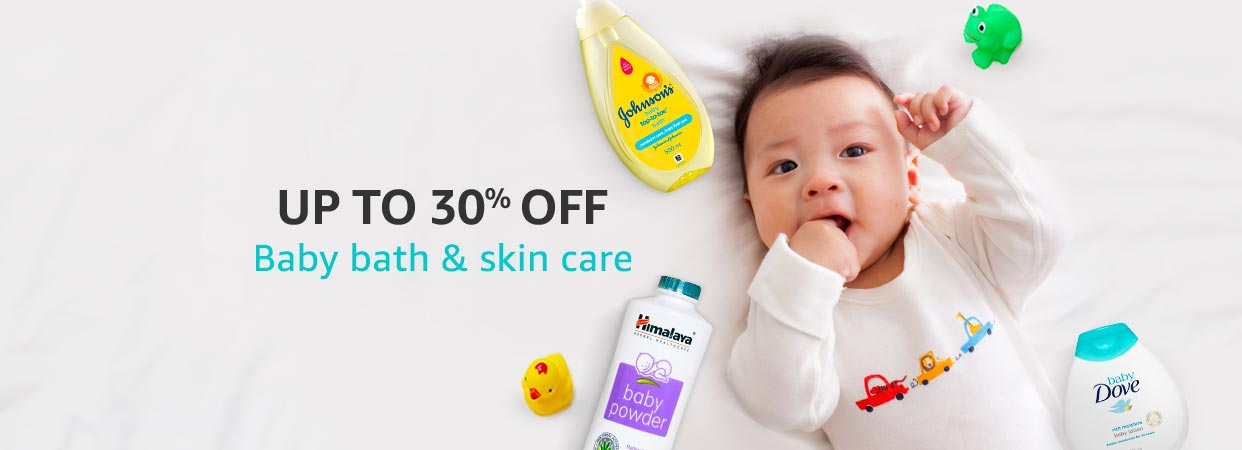 Baby care products up to 30% off