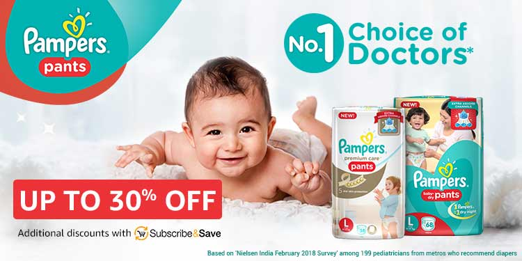 Up to 30% off Pampers