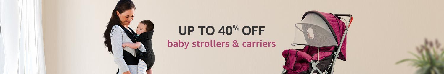 Up to 40% off Baby Strollers & Carriers
