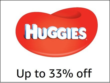 Up to 33% off Huggies