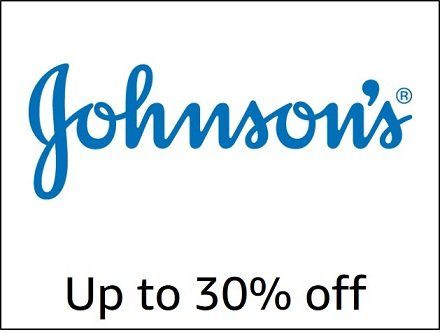 Up to 30% off Johnson's