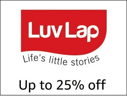 Up to 25% off LuvLap