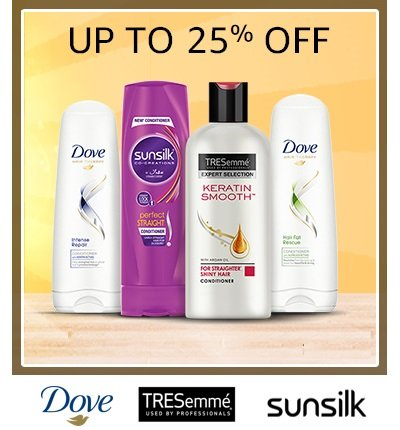 Shampoos & Conditioners Tresemme Sunsilk and Dove