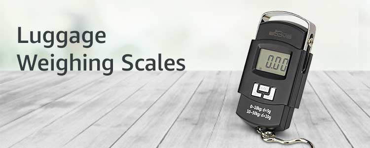 Luggage weighing scale