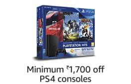 Minimum ₹1700 off: PS4 Consoles