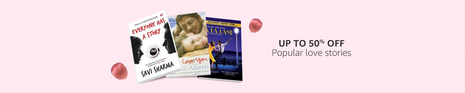 Get upto 50% off on Love Story Books