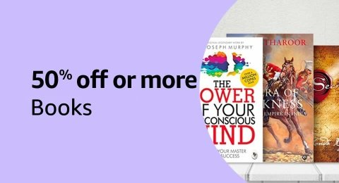 50% off or more: Books
