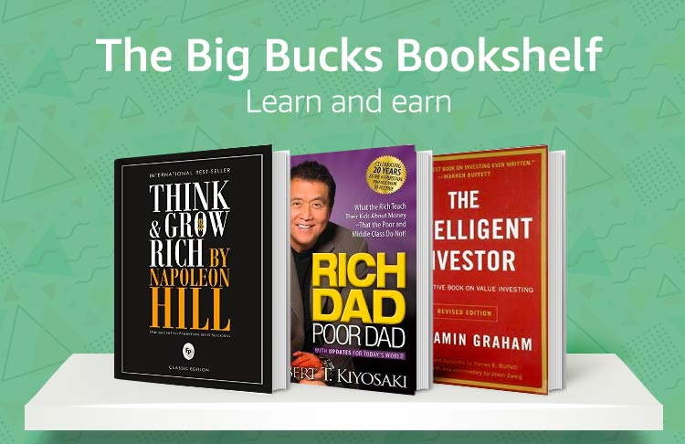 The big bucks bookshelf