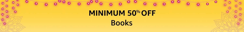 Minimum 50% off on books