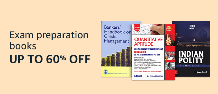Up to 60% off on Exam prep books
