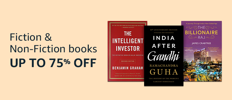 Upto 75% Off on Fiction and Non Fiction Books
