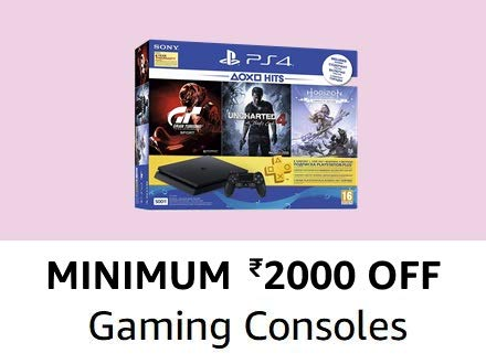 MINIMUM 2000 OFF: Gaming Consoles