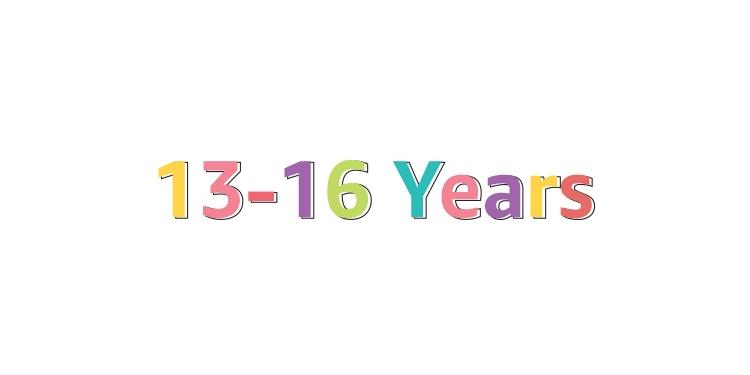 13-16 Years
