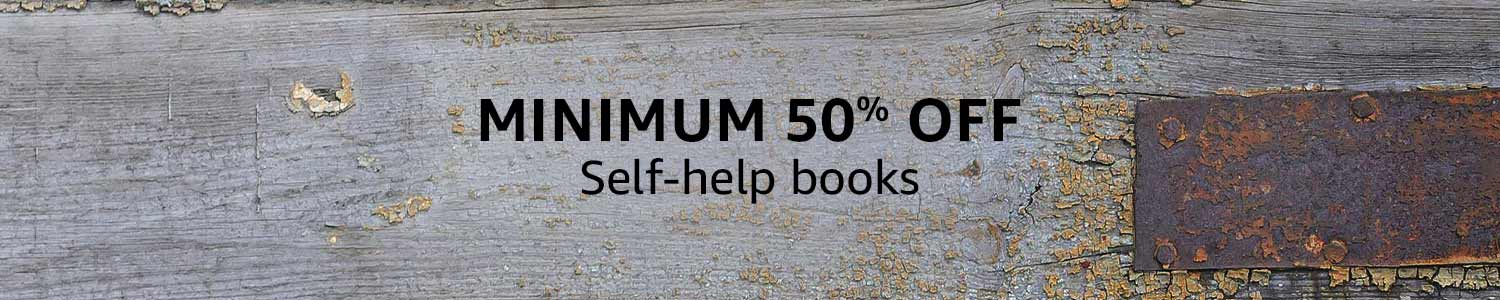 Min 50% off: Self-help books