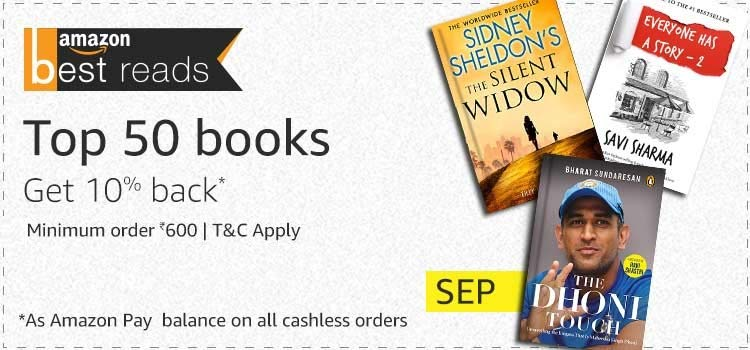 10% cashbook on Book