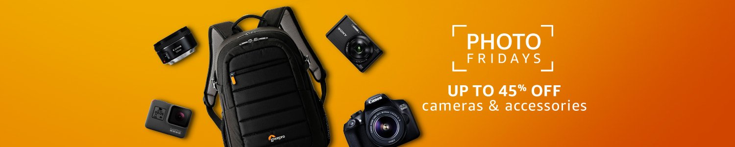 Up to 45% off cameras and accessories