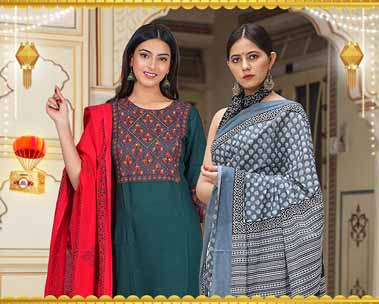 Up to 70% off   Festive handloom clothing