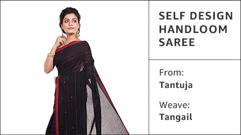 Self design handloom saree