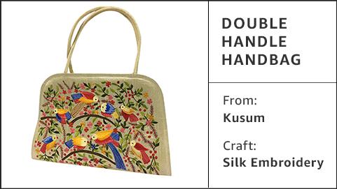 Double handle handbag