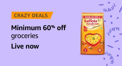 Minimum 60% off groceries