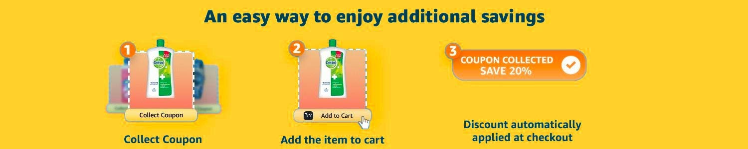 Collect coupons and add product to cart. Discount will be applied at checkout.