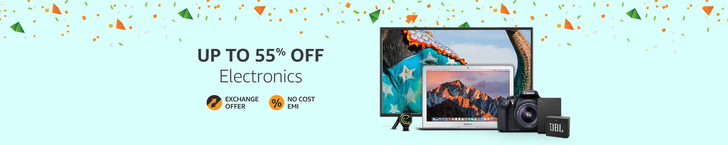 Electronics up to 55% off