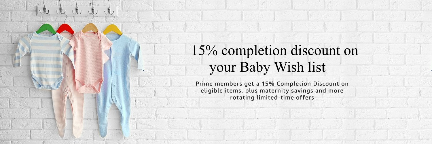 15% completion discount on baby wish list
