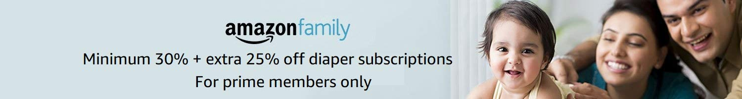 Introducing Amazon Family:Extra 15% off diaper subscriptions for prime members