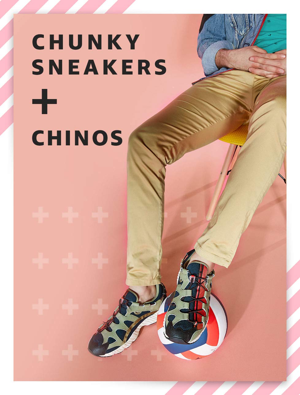 Chunky Sneakers + Chinos