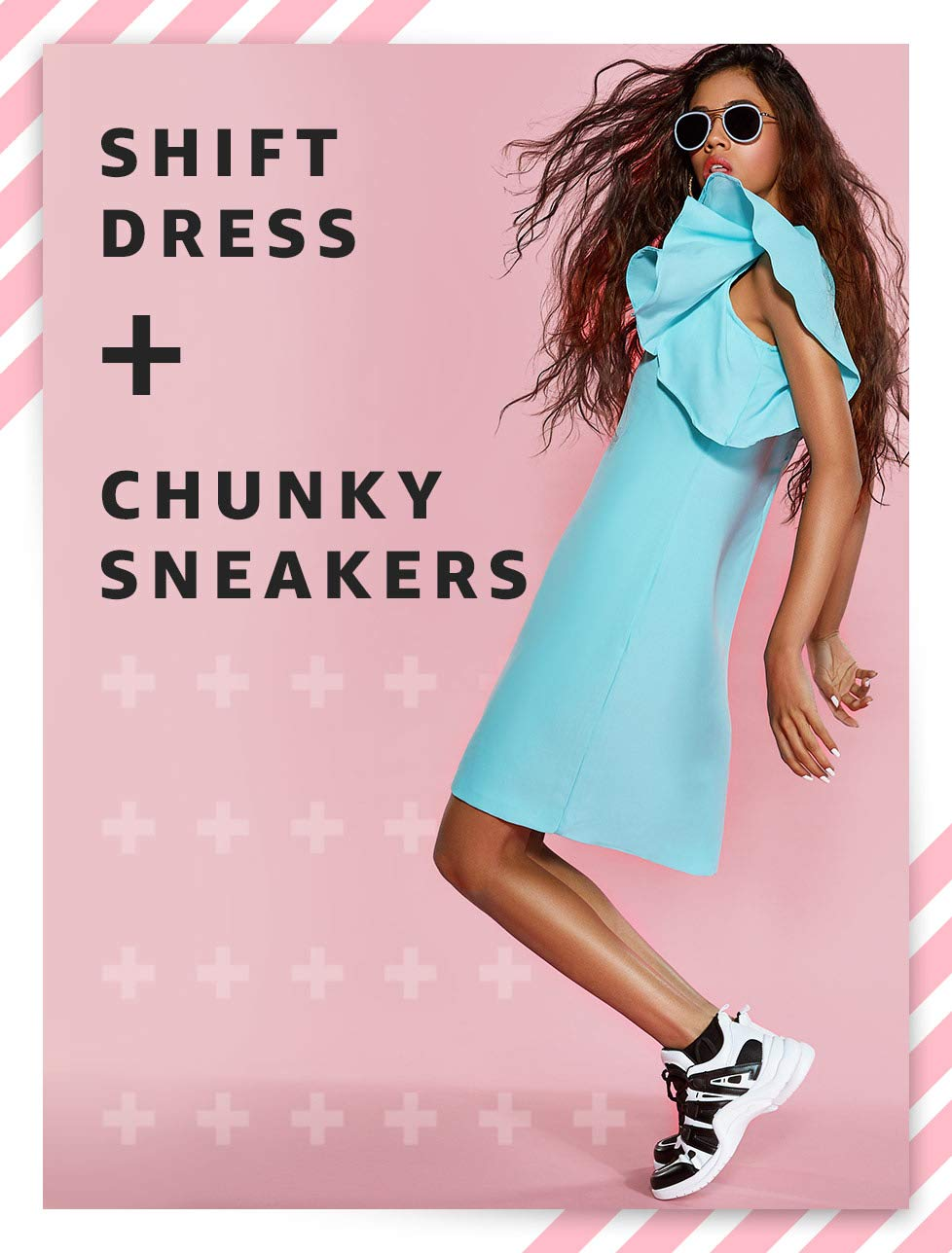 Shift Dress + Chunky Sneakers