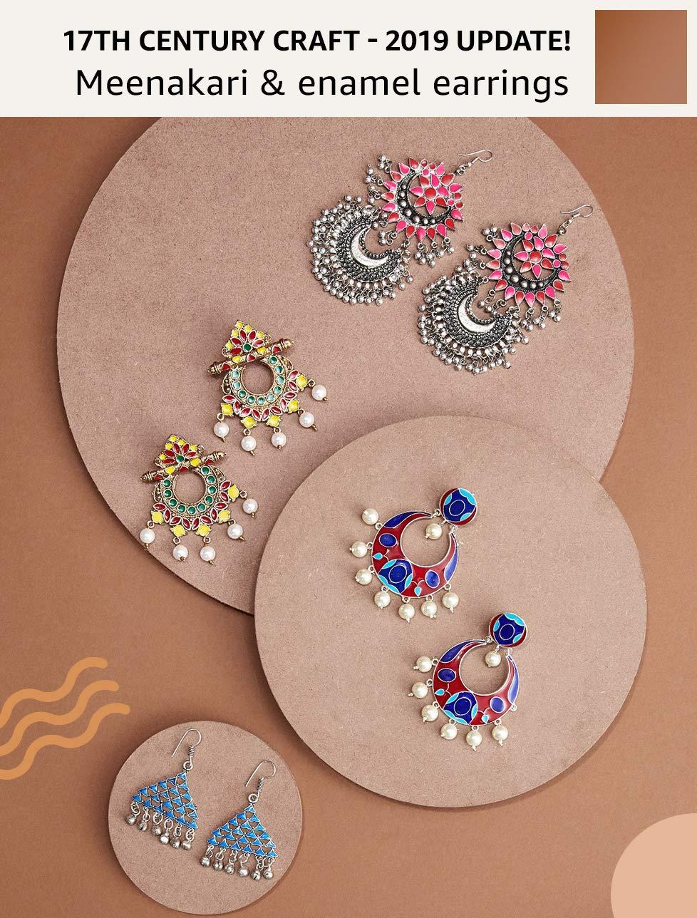 Meenakari & Enamel Earrings