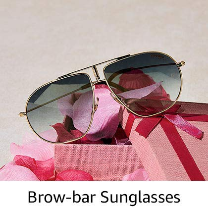 Brow-bar sunglasses