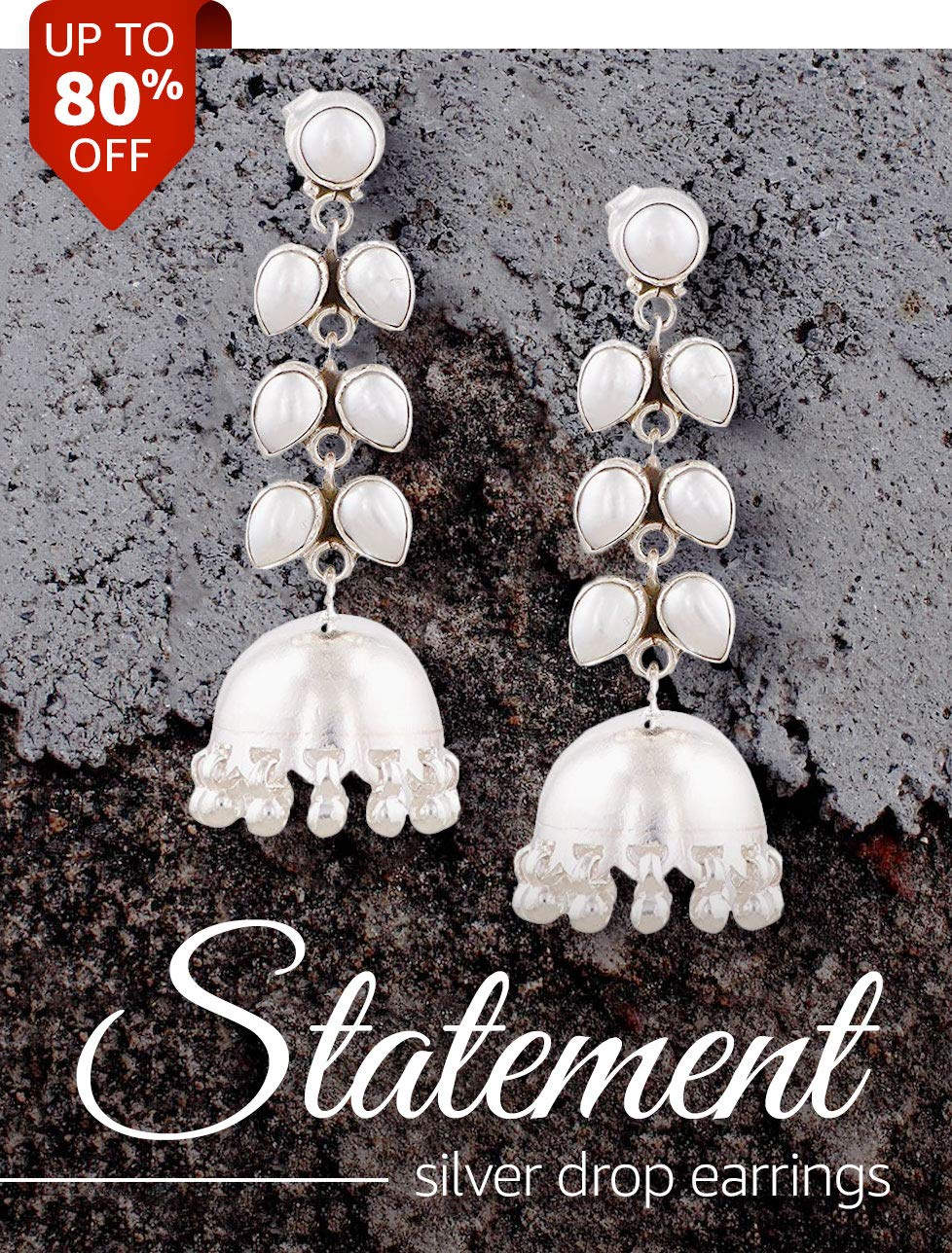 Statement Silver Drop Earrings