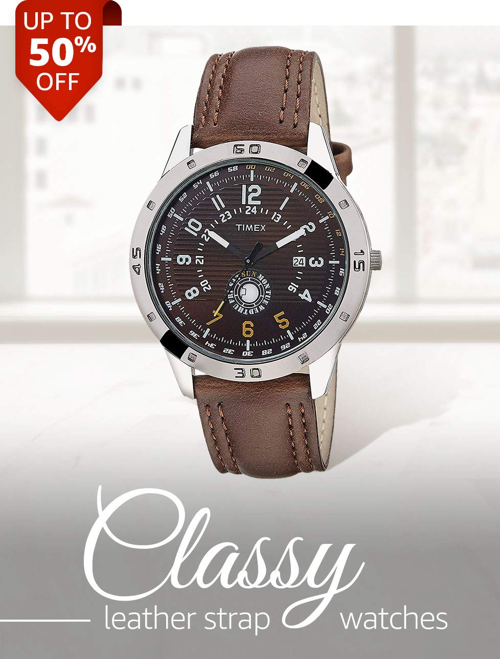 Classy Leather Strap Watches