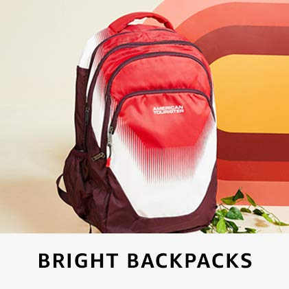 Bright backpacks