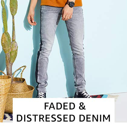 Faded & Distressed Denim