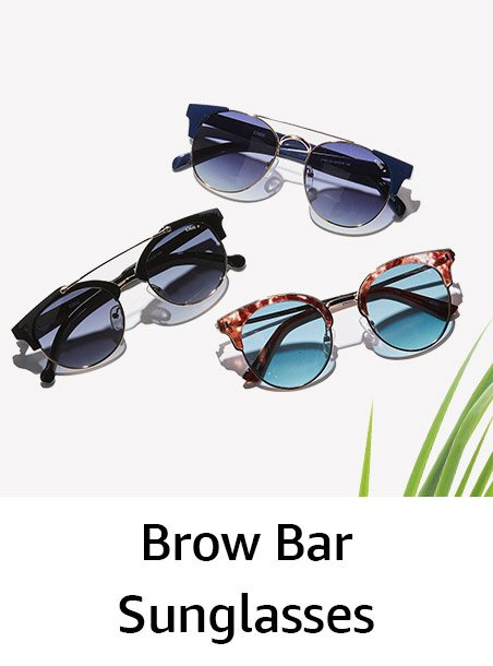Brow bar sunglassses