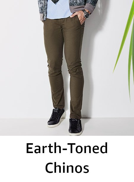 Earth-toned chinos
