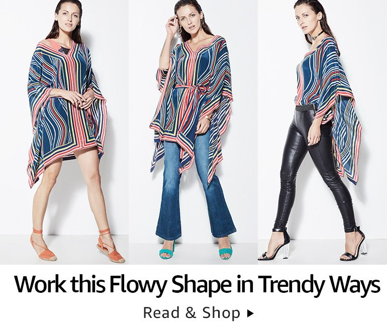 Flowy shape in trendy ways