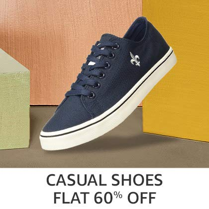 Casual Shoes Flat 60% Off