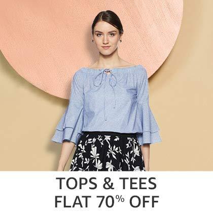 Tops & Tees Flat 70% Off