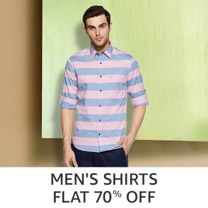 Men's Shirts Flat 70% Off