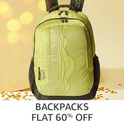 Backpacks Flat 60% Off